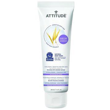 Attitude Natural Body Wash, Fragrance Free, 8.1 Fluid Ounce