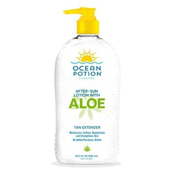 Ocean Potion After Sun Lotion with Aloe Tan Extender, 20.5 Ounce Bottle, Pack of 1