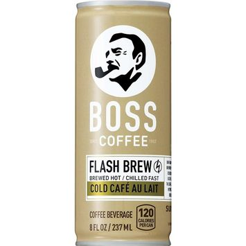 BOSS COFFEE by Suntory - Japanese Coffee Drink with Milk - Imported Coffee - Flash Brewed - Gluten Free. (Au Lait) (8 oz) (Pack of 12)