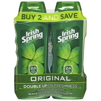 Irish Spring Body Wash for Men, Original - 18 fluid ounce,Twin pack(6 Pack)