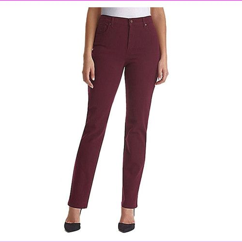 Gloria Vanderbilt Amanda - Gloria Vanderbilt Amanda Stretch-Fit Jeans 14 Avg/Sweet Burgundy [name: actual_color value: actual_color-sweetburgundy]