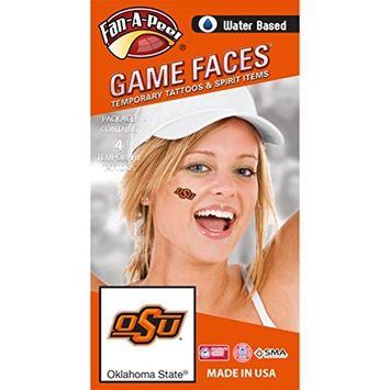 Fan A peel Oklahoma State University (OSU) Cowboys – Water Based Temporary Spirit Tattoos – 4-Piece – Orange OSU Logo