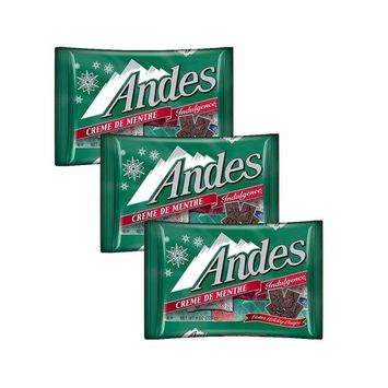 Andes Creme De Menthe Indulgence Milk Chocolate Mint Filled Christmas Candy - Bulk Xmas Assortment Dinner Mint Candies - Perfect for Candy Dish - 8 oz Bags (3 Pack)