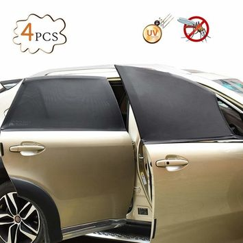 CARGOOL Car Window Shade Automotive Window Sun Shade Breathable Side Window Cling Shades for Front and Rear Side Windows, Prevent UV Ray, Sunlight and Glare, Dark Grey,