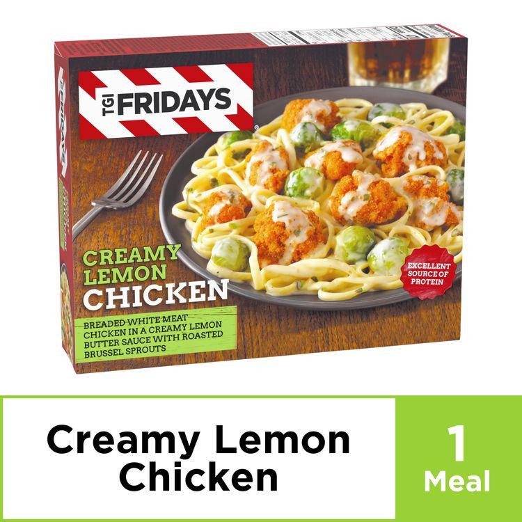 TGI Fridays Creamy Lemon Chicken Linguine Frozen Dinner, 12 oz Box