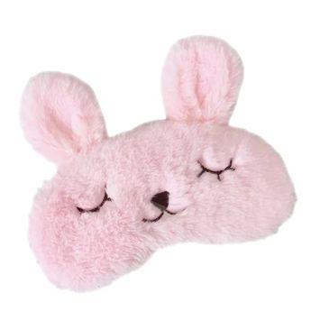BAOBAO Soft Plush Bunny Rabbit Ears Sleep Eye Mask Cover Eyepatch Blindfold Eyeshade