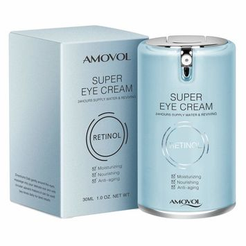 Eye Cream for Dark Circles and Puffiness with Retinol & Grape Seed Extract, Best Anti Aging Under Eye Treatment For Women & Men, Refreshing, Hydrating, Soothing, 1oz, Mothers Day Gifts for Her His