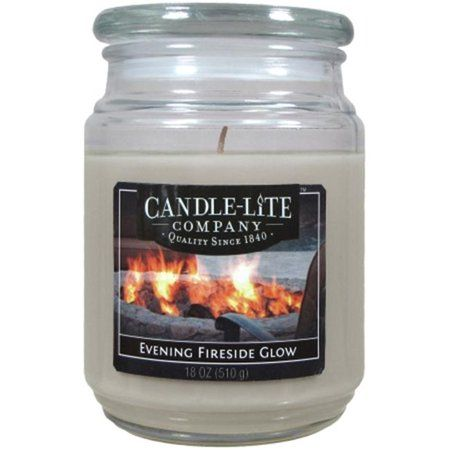 Candle lite 3297251 2 Pack Evening Fireside Glow Jar Candle, 18 oz