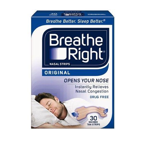 2 Pack Breathe Right Nasal Strips Original Tan Small/Medium 30 Each = 60 Strips