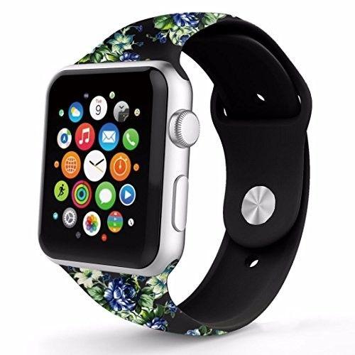 42mm Apple Watch band, Urberry Retro silica gel flower Band for Apple Watch Series 2, Series 1, Sport, Edition