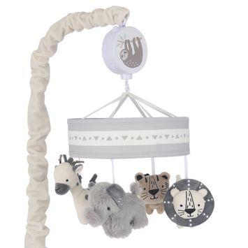 Lambs & Ivy Animal Jungle Musical Baby Crib Mobile