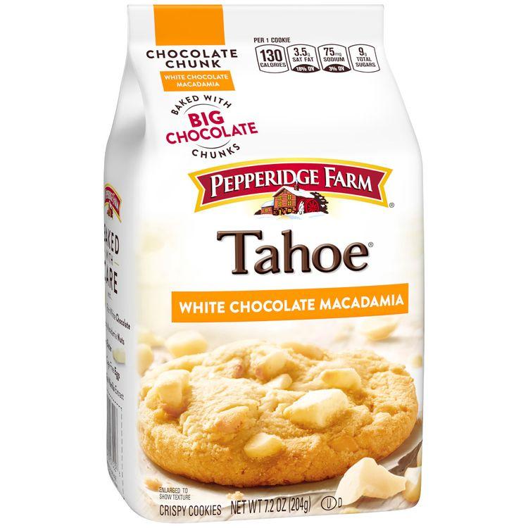 Pepperidge Farm® Tahoe® Crispy White Chocolate Macadamia Cookies, 7.2 oz. Bag