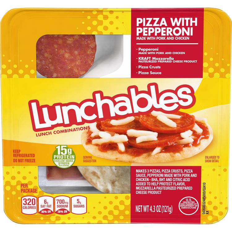 Lunchables Pizza With Pepperoni Lunch Combinations, 4.3 oz. Tray