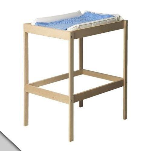 Småland Böna IKEA - SNIGLAR Changing table, beech, white