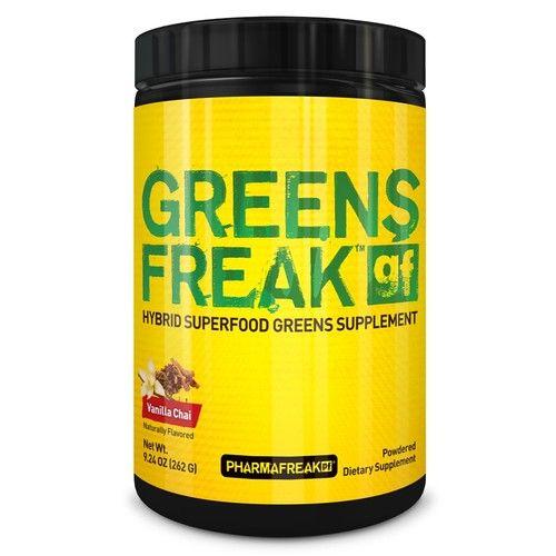 PHARMAFREAK GREENS FREAK - 262G (Vanilla Chai) Powder | Hybrid Superfood Greens Supplement | Immune & Digestive Health