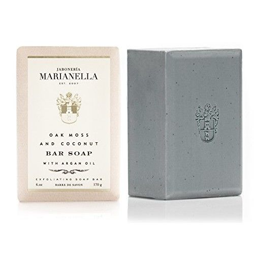 Oak Moss and Coconut Premium Soap Bar for Men and Women with Special Anti-Aging Formula (6 Oz)