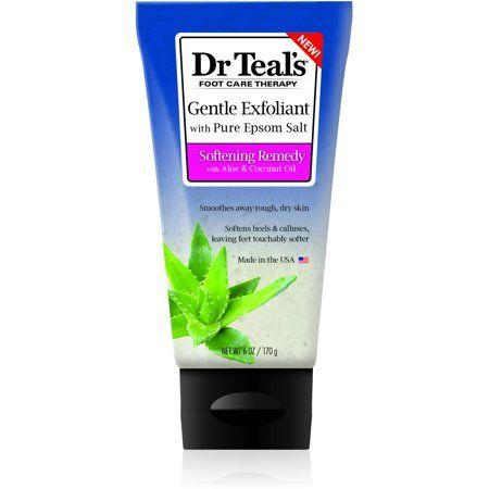 Dr Teal's Exfoliant Foot Scrub Epsom Salt, 6 oz.