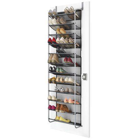 Mainstays Ms Over The Door Shoe Rack Metal/mesh