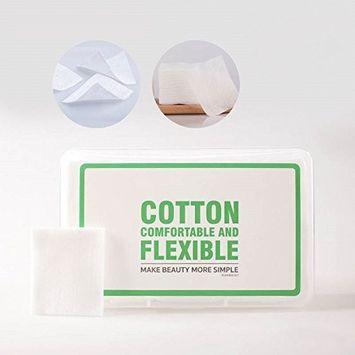 BLD Thin Cotton Pads Plastic Box Packing Cosmetic Cotton Nail Polish Makeup Remover Pads Single Layer 1000 pcs/box