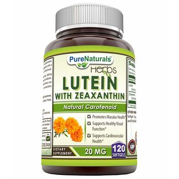 Pure Naturals Lutein with Zeaxanthin 20 Mg, Softgels - Promotes Macular Health* Supports Healthy Visual Function* Supports Cardiovascular Health*