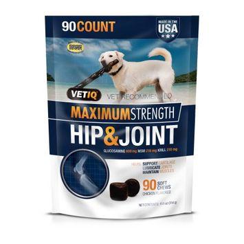 VetIQ Maximum Strength Hip & Joint Pet Treat - 90ct