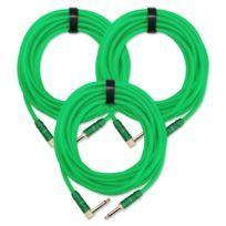 3x Set Trendline Inst-6NG câble à instrument 6 m vert
