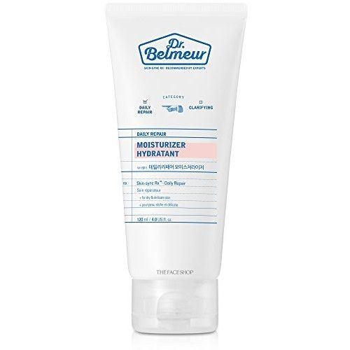 [THEFACESHOP] Dr. Belmeur DAILY REPAIR MOISTURIZER for Sensitive and Delicate Skin (120 ML / 5 FL OZ): Beauty