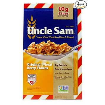 Uncle Sam Toasted Whole Wheat Berry Flakes and Flaxseed, 13-Ounce Boxes (Pack of 4)