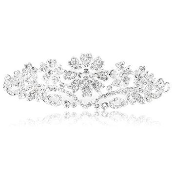ULTNICE Wedding Bridal Tiara Crown Bridal Headband Princess Crown