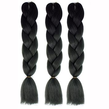Alonea New Fashion Womens Gradient Long Braid Wavy Party Wigs