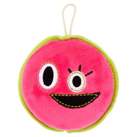 Vibrant Life Happy Face Disc Dog Toy