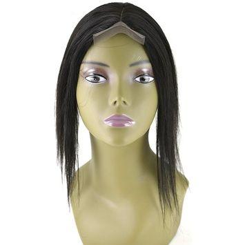 Invisible Lace Closure Natural Brazillian Virgin Remy 100% 12'' Human Hair Color: 1B