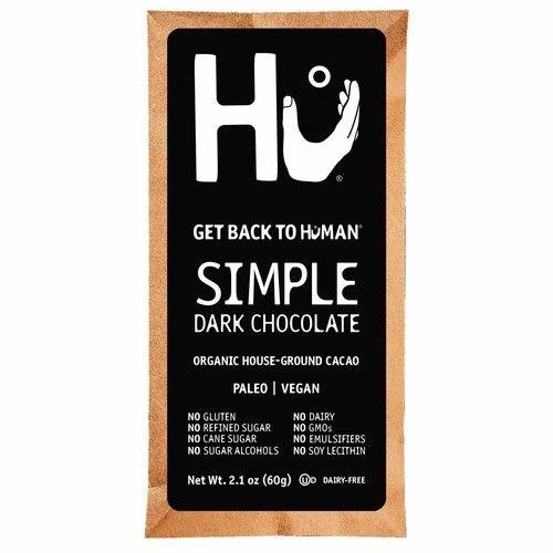 Hu Chocolate Bars | 4 Pack Hazelnut Praline Chocolate | Natural Organic Vegan, Gluten Free, Paleo, Non GMO, Fair Trade Dark Chocolate | 2.1oz Each [Simple]