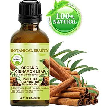 ORGANIC CINNAMON LEAF ESSENTIAL OIL. 100% Pure Therapeutic Grade, Premium Quality, Undiluted. 1 Fl.oz.- 30 ml.
