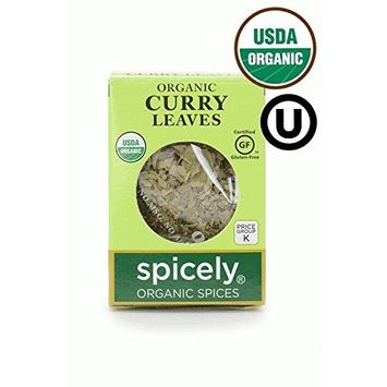Spicely Organic Curry Leaves 0.10 Ounce ecoBox Certified Gluten Free