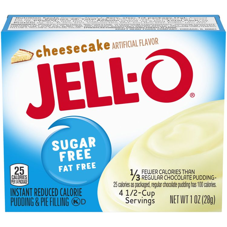 Jell-O Sugar Free Cheesecake Instant Pudding Mix, 1 oz Box