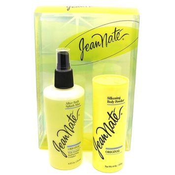 JEAN NATE Set Silkening Body Powder 4 OZ & After Bath Splash Mist SPRAY 8 OZ