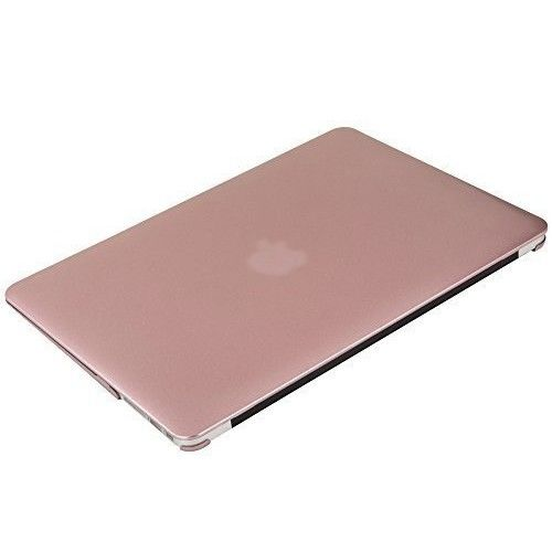 MOSISO Ultra Slim Plastic Hard Shell Snap On Case Cover for MacBook Air 13 Inch (A1466 & A1369), Rose G