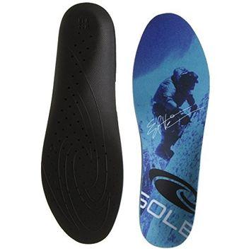 SOLE Signature ED Viesturs Ultra Arch Support Inserts, Blue, (Men's 12/Women's 14)M US
