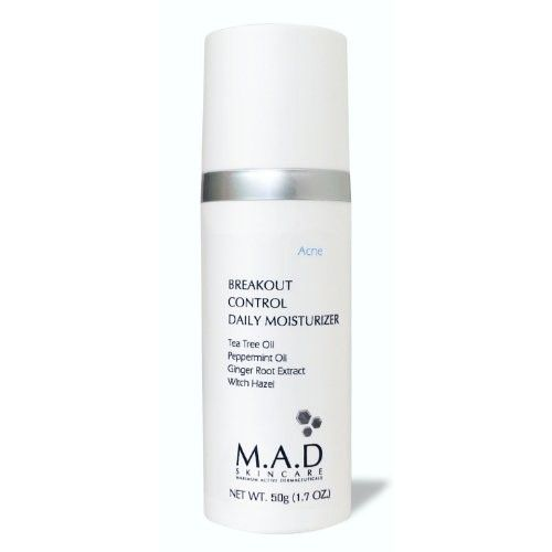 M.A.D Skincare Breakout Control Daily Moisturizer - For Acne Prone Skin 1.7 oz
