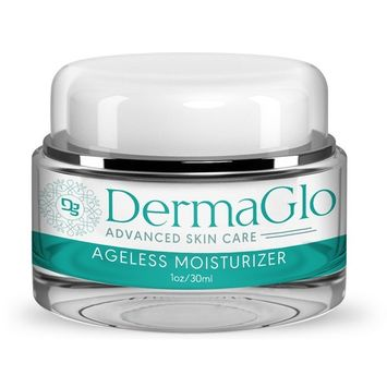 Derma Glo- Advanced Skincare- Ageless Moisturizer- Deeply Hydrate Day & Night Facial Moisturizer- Minimize Wrinkles and Aging 1oz/30ml