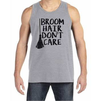 7 ate 9 Apparel Men's Broom Hair Witch Halloween Tank Top - Medium