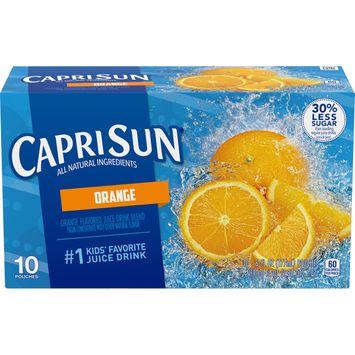 Capri Sun Orange Flavored Juice Drink Blend, 10 ct. Box