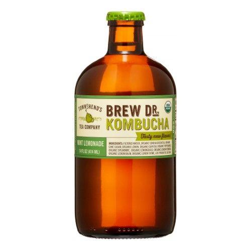 Brew Dr. Kombucha, Mint Lemonade, 14 Fl Oz