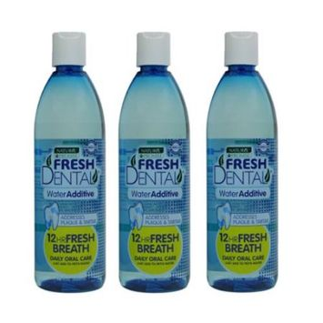 Naturel Promise Fresh Dental Water Additive for Dogs/Cats, 18-Ounce (3 pack)