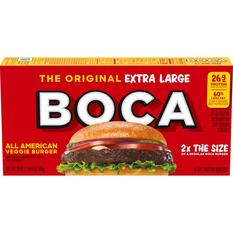 BOCA Extra Large All American Veggie Burgers, 4 ct - 20.0 oz Box