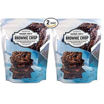 Trader Joe's - BROWNIE CRISP - A Crispy, Crunchy Take On Classic Chocolate Brownies, Gluten Free, Vegan NET WT.5 OZ (142g) - 2-Pack