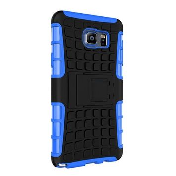 Lookatool For Samsung Galaxy NOTE 5 Shockproof Armor Full Body Protective Case with Kickstand Case Cover Skin
