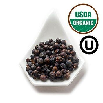 Spicely Organic Juniper Berries Whole 1.10 Ounce Jar Certified Gluten Free