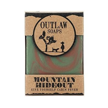 The Mountain Hideout Soap - 2 Pack - Smells like the freedom of the mountains, life on the trail, and a whiff of campfire on the breeze - Men's or Women's Soap